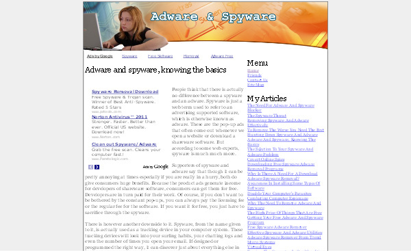 Product picture Adware - Spyware Adsense Content Website