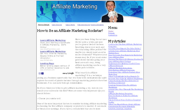 Product picture Affiliate Marketing Adsense Content Website
