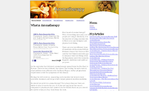 Product picture Aromatherapy Adsense Affiliate Content Website