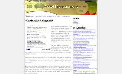 Product picture Asset Management Adsense Affiliate Content Website