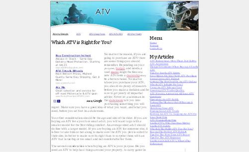 Product picture ATV Adsense Affiliate Content Website