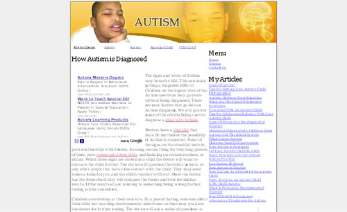 Product picture Autism Adsense Affiliate Content Website